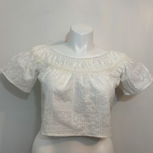White crop top by Kendall & Kylie. Size small